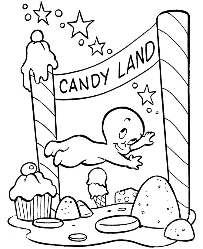 Candyland Coloring Pages 4