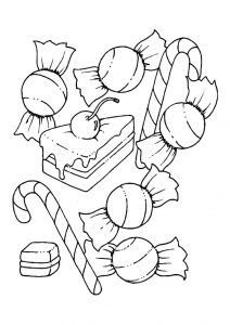 Candyland coloring pages for children