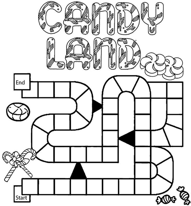 Candyland Coloring Pages Game