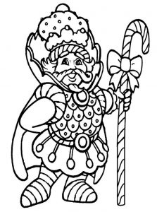 Candyland coloring pages king