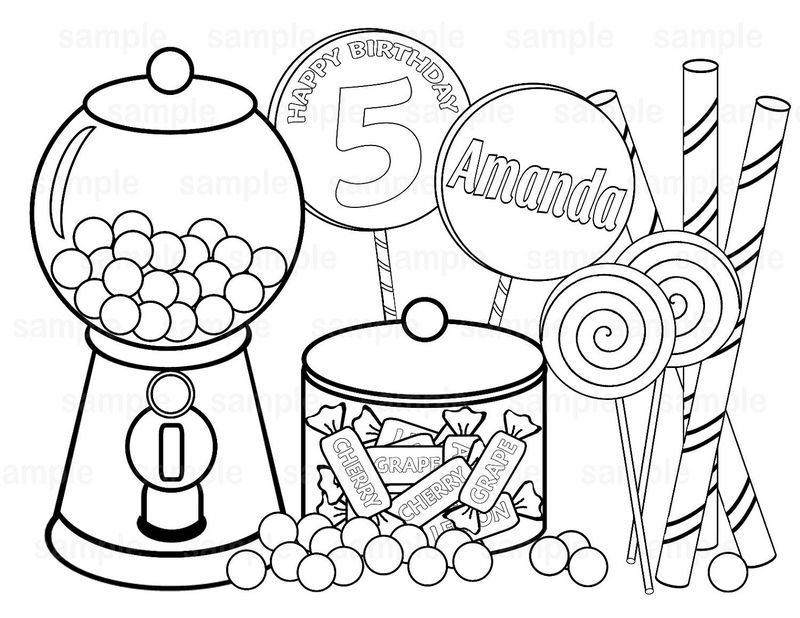 Candyland Coloring Pages Lollipop - Coloring Sheets