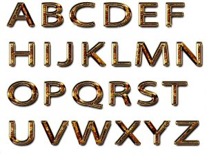 Capital alphabet letters new