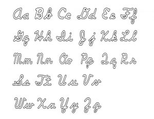 Capital and lowercase letters chart