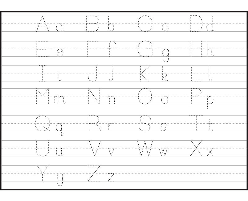 Capital And Lowercase Letters For Tracing