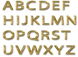 Capital letters alphabet gold