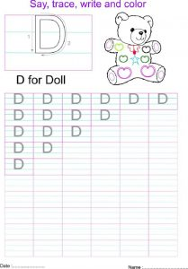 Capital letters worksheet d 001