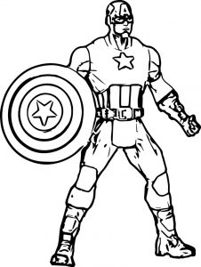 Captain america avengers coloring page