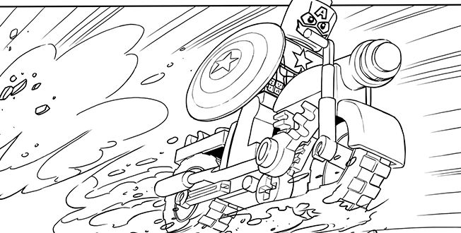 Captain America Lego Avengers Coloring Pages