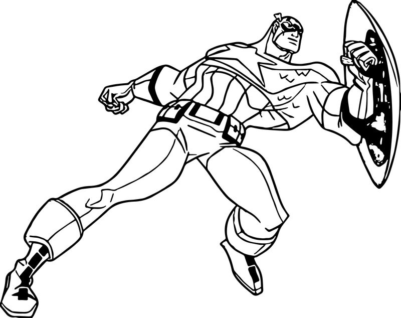 Captain America Marvel Coloring Pages 001