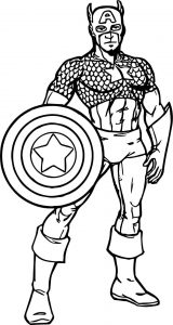 Captain america power cartoon coloring page