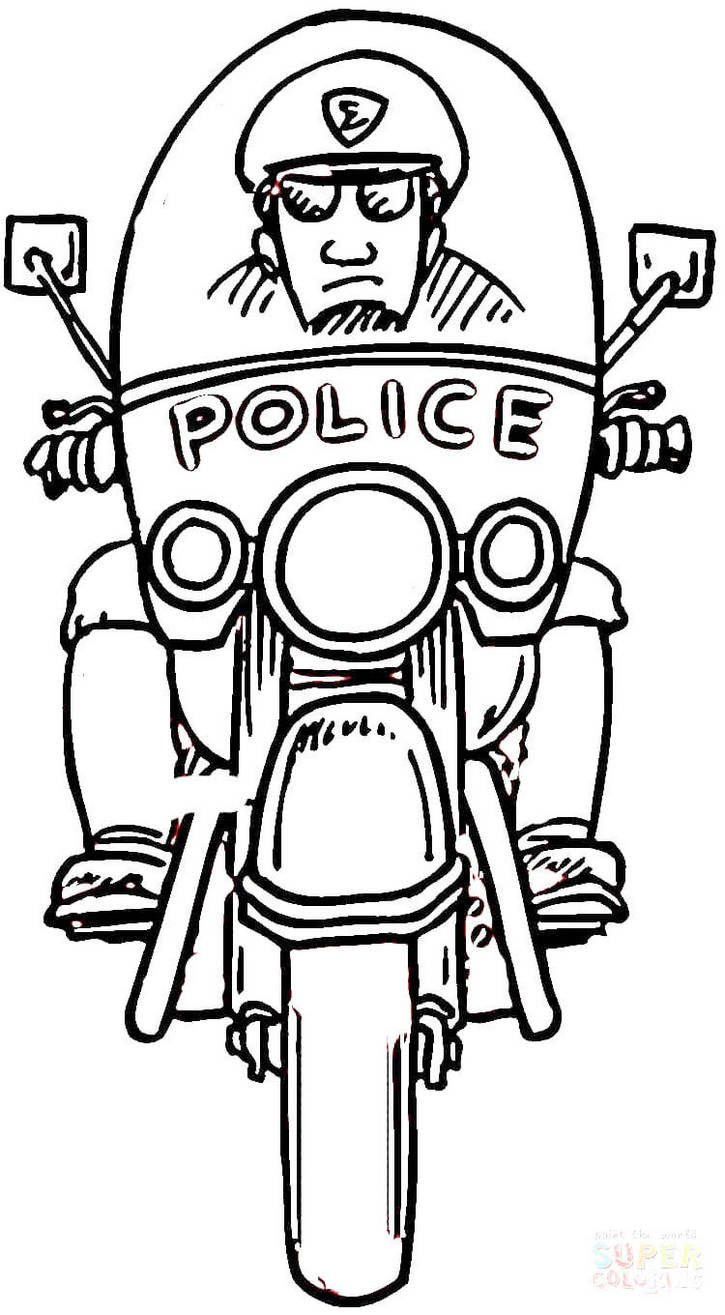 Car Police Coloring Pages