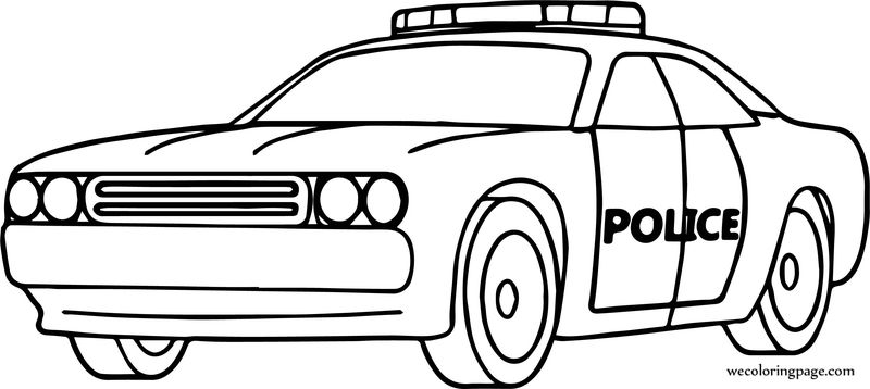 Car Police Perspective Coloring Page