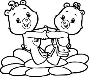 Care bears flower adventures in care a lot coloring page