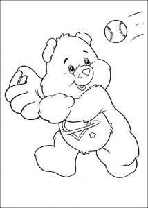 Carebare baseball coloring page 001