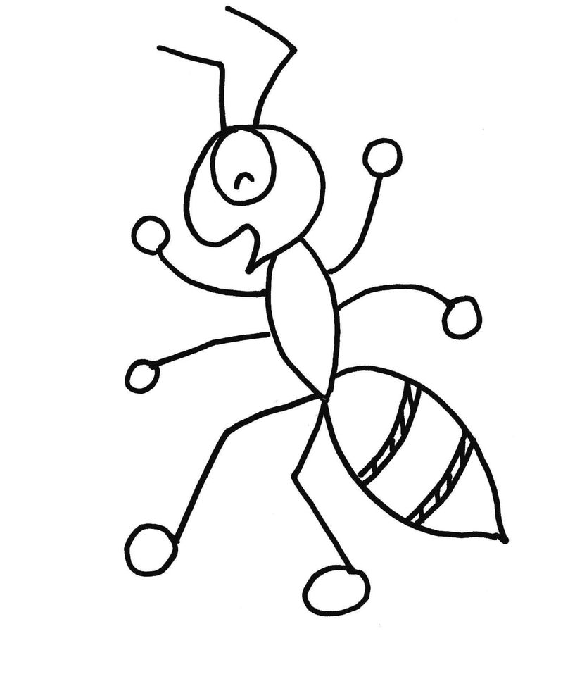 Cartoon Ant Coloring Pages