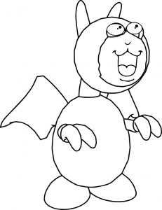 Cartoon bat coloring page