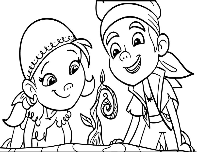 Cartoon Boy And Girl Ivy Coloring Page