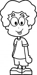 Cartoon boy coloring page