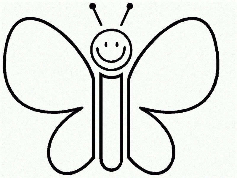 Cartoon Butterfly Coloring Pages