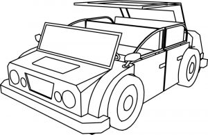 Cartoon car jeep coloring page