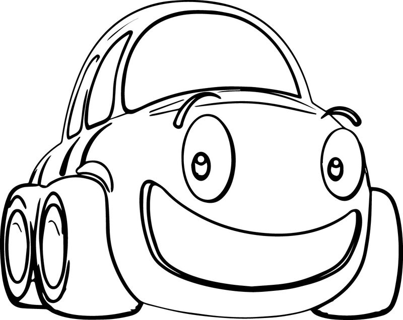 Cartoon Cars Coloring Page