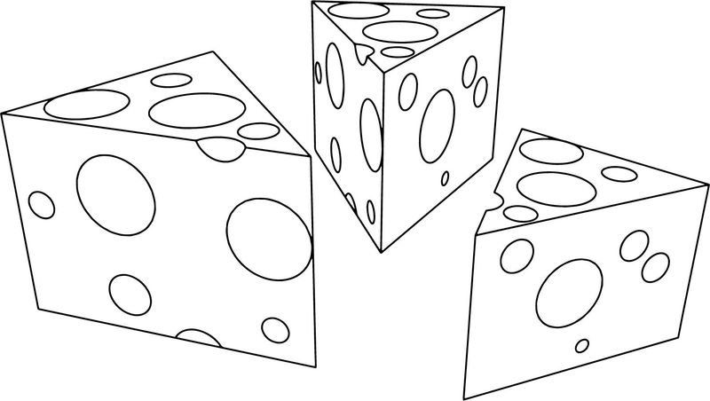 Cartoon Cheese Coloring Pages