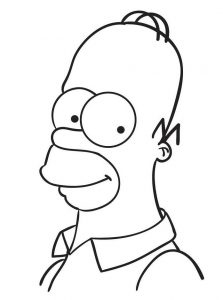 Cartoon coloring pages homer simpson