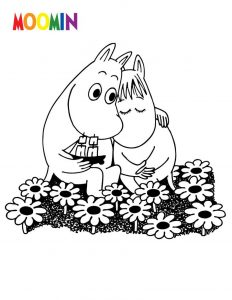 Cartoon coloring pages moomin