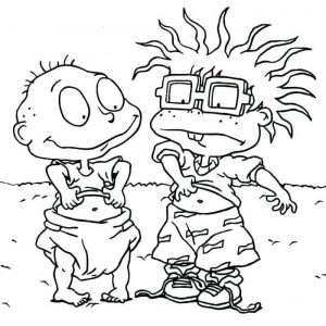 Cartoon coloring pages rugrats