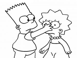 Cartoon coloring pages simpsons
