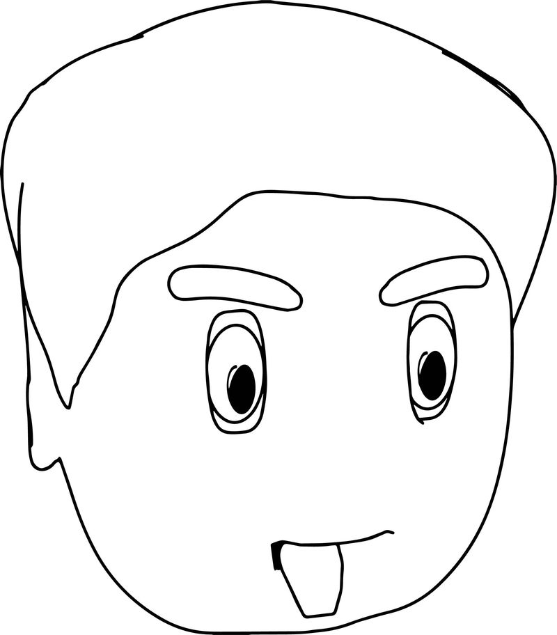 Cartoon Face Coloring Page