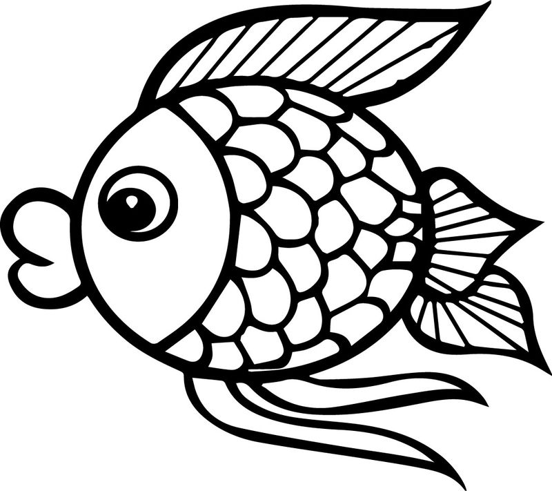 Cartoon Fish Coloring Pages