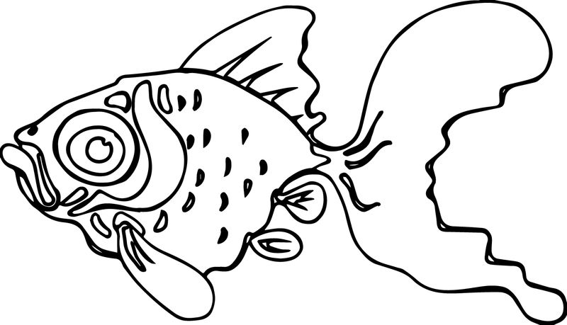 Cartoon Fish Ugly Coloring Page Sheet