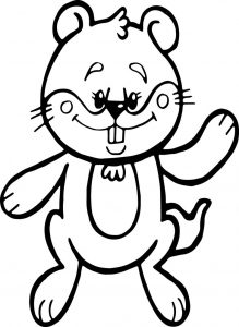 Cartoon groundhog coloring page
