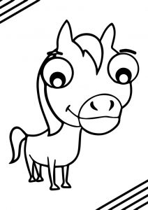 Cartoon horse coloring page 24