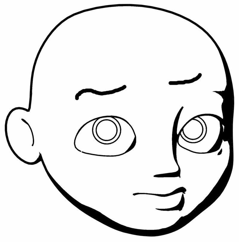 Cartoon Like Boy Head What Coloring Page