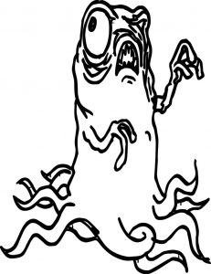 Cartoon monster coloring page