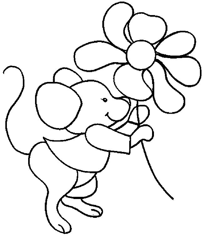 Cartoon Mouse Coloring Page
