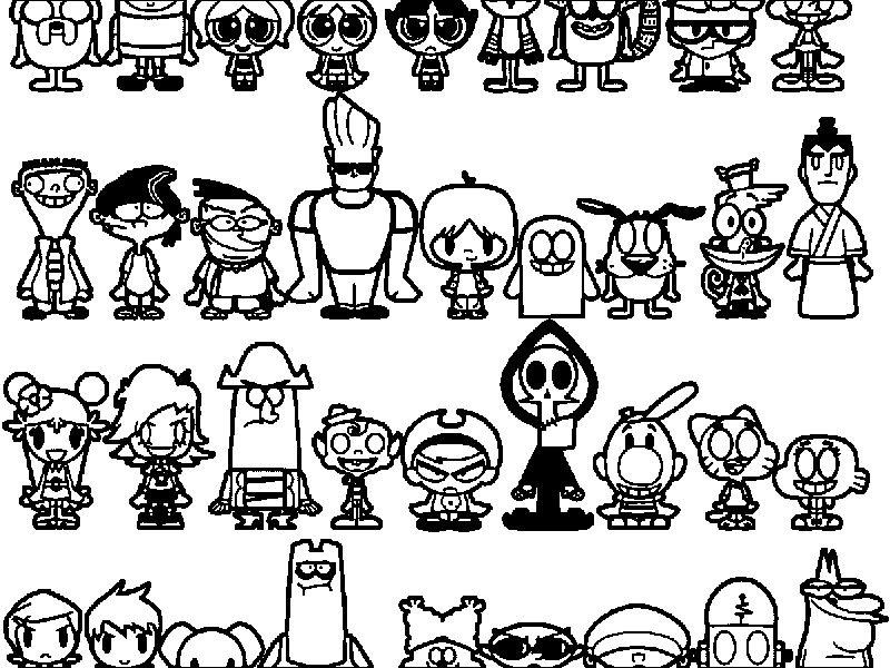 Cartoon Network Characters Coloring Page