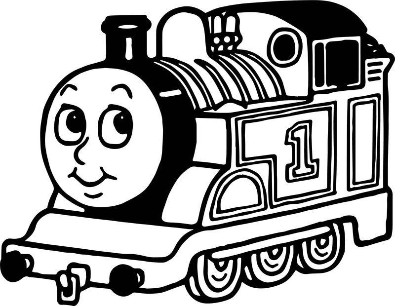 Cartoon One Train Coloring Page