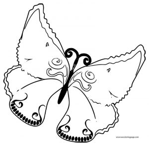 Cartoon purple butterfly clipart coloring page