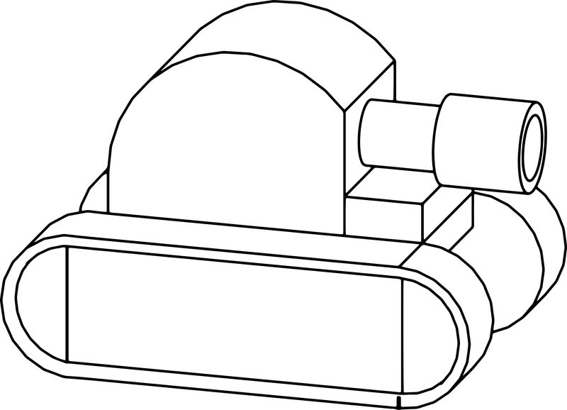 Cartoon Tank Coloring Page