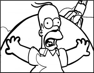 Cartoon the simpsons homer coloring page