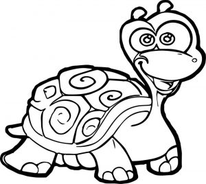 Cartoon tortoise turtle coloring page
