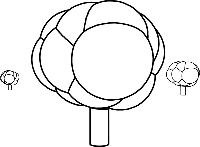 Cartoon Tree New Coloring Page
