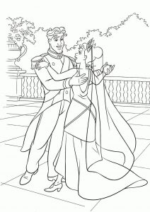 Cartoon wedding coloring pages 001