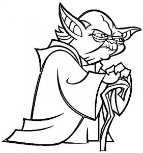 Cartoon yoda star wars coloring pages
