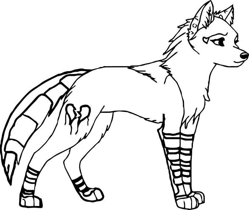 Cartoon Wolf Coloring Page 02