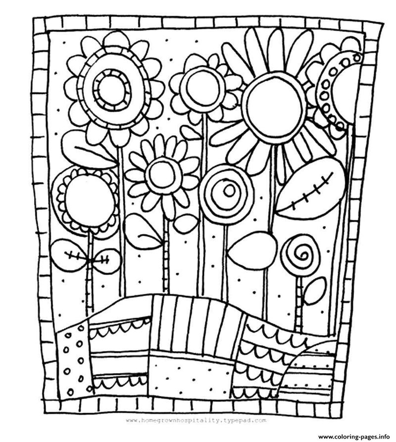 Cartoonflower Coloring Pages