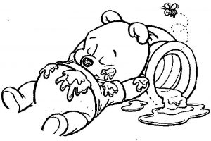 Cartoons baby winnie the pooh coloring page